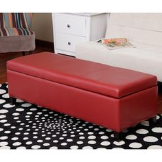 Warehouse of Tiffany Sharon Faux Leather Storage Bench  Overstock™