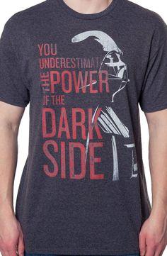 Power of the Dark Side T-Shirt: Star Wars, Darth Vader Mens T-shirt