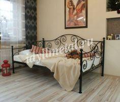 Кованый диван-кровать  Артикул DIV16  Размеры и цены:  0,9 м. х 2,0 м. - 34 500,00 руб.;  1,0 м. х 2,0 м. - 36 000,00 руб.;  1,2 м. х 2,0 м. - 37 500,00 руб.
