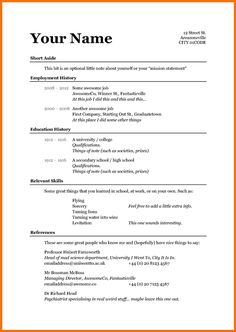 Simple Sample Format Template Basic Resume Curriculum Vitae Fresh Jobs And Free Samples For