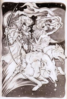 Riding wolves. #Elfquest Wendy Pini