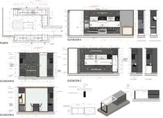 Image 48 of 48 from gallery of Chilean Houses And Their Kitchens In Detail. Hotel Room Design, Room Design Bedroom, Design Portfolio Layout, Layout Design, Kitchen Interior, Kitchen Design, Kitchen Ideas, Interior Architecture Drawing, Drawing Furniture