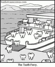Oceanside, California Dentists at Mira Costa Dental are dedicated to family dentistry such as Exams, Teeth Whitening, Veneers and more. Bad Puns, Funny Puns, Funny Cartoons, Haha Funny, Funny Stuff, Funny Things, Cartoon Jokes, Stupid Funny, Dental Jokes