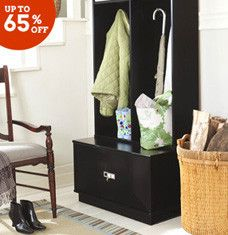 Shed outerwear in style with help from our favorite mudroom essentials. Chic benches provide a spot to remove footwear, and locker-style hall trees and coat racks offer plenty of storage space for jackets and more. Finish off the room with weathered wall art, topiaries, and jute rugs that are perfect for high-traffic areas.