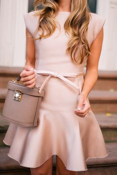 Gal Meets Glam The Bow Detail -Paule Ka dress & Mark Cross bag