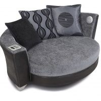Sofas with built-in speakers and iPod dock! Need for music room!