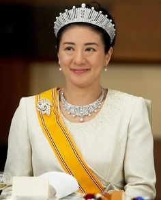 Japanese Crown Princess Masako attends a State Dinner for the Dutch King and Queen at the Imperial Palace in Tokyo, Japan, 29.10.2014.