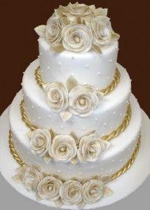 torte in pasta di zucchero nozze d'oro - Cerca con Google