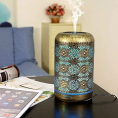 Aroma Diffuser, 260ml Metall Aromatherapie Diffusor für ätherische Öle
