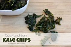 Yummy quick and healthy kale chips