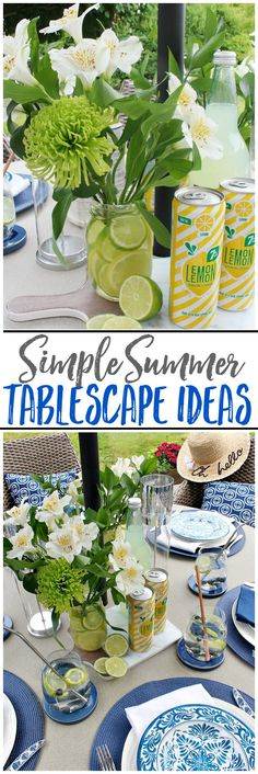 Summer Tablescape Ideas - Clean and Scentsible Summer Crafts, Summer Fun, Fun Crafts, Summer Ideas, Summer Time, Affordable Home Decor, Decorating On A Budget, A Table, Tablescapes