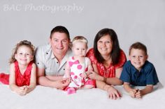 Indoor Studio Photography - Family Portrait Casual posing