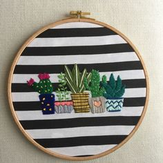 Hand Embroidery and Its Types - Embroidery Patterns Cactus Embroidery, Hand Embroidery Stitches, Modern Embroidery, Embroidery Hoop Art, Hand Embroidery Designs, Embroidery Techniques, Cross Stitch Embroidery, Cross Stitching, Stitch Patterns