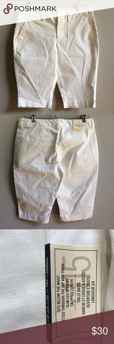 NWT Gap White Bermuda Shorts New with tags. Size 0. Retail $39.99. Will not be priced lower. No offers please. GAP Shorts Bermudas