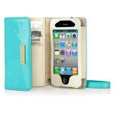 Kate Spade iPhone 4g Wristlet Case Aqua... I'll be getting one of these.... once i get my iphone that is ;)