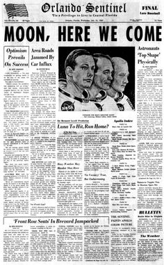 To the moon! 20 newspaper headlines from the Apollo 11 launch on July 1969 - Click Americana To the moon! 20 newspaper headlines from the Apollo 11 launch on July 1969 - Click Americana Newspaper Wall, Vintage Newspaper, Newspaper Headlines, Newspaper Article, Newspaper Pictures, Apollo 11 Launch, Space Race, Pink Aesthetic, Wall Collage
