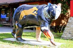 cherokee bears project | Cherokee, NC Painted Bears