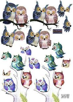 Owl always love you Decoupage Vintage, Decoupage Paper, 3d Cards, Paper Cards, Image 3d, 3d Sheets, Owl Card, Owl Pictures, Owl Always Love You