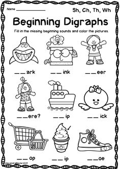 Ch Worksheets for Kindergarten Digraph Worksheets Sh Ch Th Wh Distance Learning Homeschool Kindergarten, Kindergarten Reading, Preschool Learning, Learning Activities, Physical Activities, Homeschooling, Digraphs Worksheets, Kindergarten Worksheets, Teaching Phonics