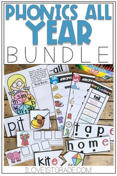 These phonics activities are perfect for kindergarten, 1st grade, or even 2nd grade students! With a variety of hands-on activities, they're great for struggling readers and on level learners. Click through to see the worksheets and prntables included! #phonicsactivities #phonicsworksheets