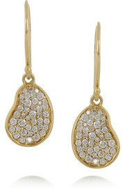 Ippolita Bean 18-karat gold diamond earrings