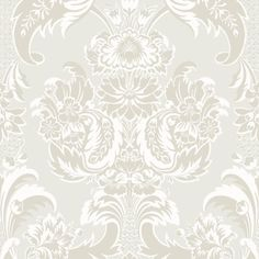 Cole & Son WYNDHAM WHITE AND PEARL Wallpaper
