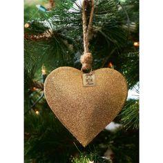 Rivièra Maison Santa Heart Ornament Gold L € 7,95