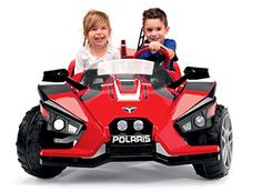 Peg Perego Polaris Slingshot Ride On Take fun and adventure to another level with the Polaris slingshot! this modern ride drives smooth, but can conquer almost Polaris Slingshot, Peg Perego, Gift Store, Adventure, Toys, Car, Automobile, Vehicles