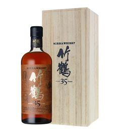 Nikka Taketsuru 35 years old Pure Malt Japanese Whisky Japanese Whisky, Malt Whisky, Cocktails, Drinks, Year Old, Whiskey Bottle, Bottles, Pure Products, Craft Cocktails