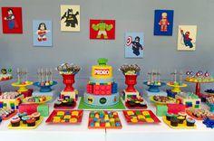 Doce Eve Ateliê | Festas Exclusivas : Festa Lego Marvel Super Heroes para o Pedro!