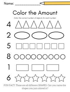 Preschool Number Worksheets, Kids Math Worksheets, Preschool Learning Activities, Free Preschool, Preschool Lessons, Worksheets For Preschoolers, Alphabet Worksheets, Preschool Curriculum Free, Learning Numbers Preschool