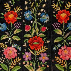 Folk Embroidery Patterns Details of the folk costume from Kurpie Białe (White Forest in the Kurpie region), Poland. Polish Embroidery, Hungarian Embroidery, Folk Embroidery, Learn Embroidery, Embroidery Stitches, Indian Embroidery, Textiles, Folklore, Embroidery Designs