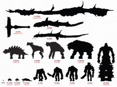 Collosi size reference chart, when compared to the player character, you can see…