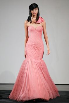 Vera Wang 2014 Fall- Pretty in Pink Wedding Gown