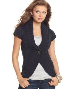 Navy blue sweater from Macy's. $38.00