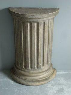 Cast Concrete Fluted Half Column | Mecox Gardens