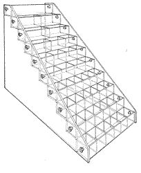 """Narrow Bin, 10 tray bin system is made up of 12""""-long trays that are 2"""" high and 2 1/2"""" deep.  20-1/4""""H x 12-1/4"""" W x 23-3/4"""" D"""