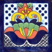100 5x5cm Azulejos En Ceramica Talavera De Mexico - $ 390.00