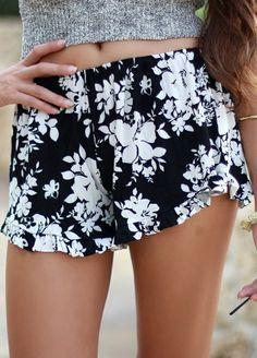 Rhea Paradise Floral Ruffle Shorts - Thumbnail 4