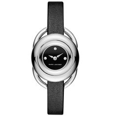 Jerrie Stainless Steel and Leather Strap Watch Marc Jacobs Jewelry, Marc Jacobs Watch, Hand Watch, Black Patent Leather, Stainless Steel, Shoe Bag, Stuff To Buy, Accessories, Leather Watches