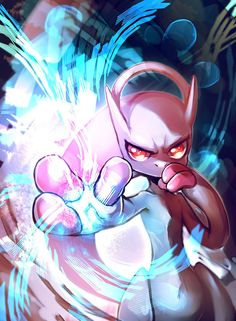 Mewtwo 2.0 by E-X-P-I-E.deviantart.com on @deviantART.  Now known as MegaMewtwo with the very recently revealed Mega Evolutions.  Some Pokemon with Mega Evolutions are Ampharos, Absol, Mawile, Lucario, and Blaziken.