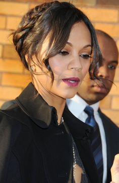 """Zoe Saldana, from the blockbuster movie """"Avatar,"""" leaving after appearing on """"The Daily Show with Jon Stewart"""" to promote her latest film """"The Losers."""