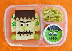 Kitchen Fun With My 3 Sons: Frankenstein Bento Lunch