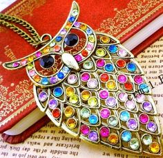 Owl necklace #Halloween #owl #jewelry www.loveitsomuch.com