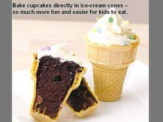Brownie in a cone!