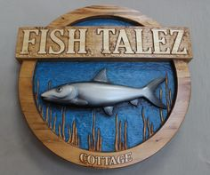 Hand carved, custom wood signs.  Cottage signs, cabin signs, business signs, home signs.  We make any personalized wood signs!  www.lazyriverstudio.com