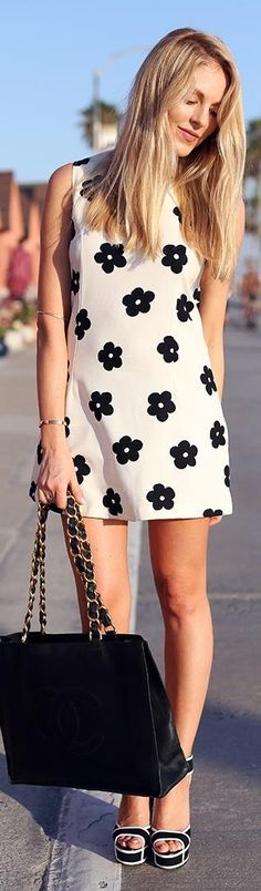 Cute dress and shoes.