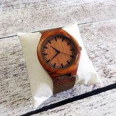 Wood Wrist Watch -Personalized- Groomsmen gift -Accessories for Men Fathers Day Gift -Best Man - Gifts for Men - FREE ENGRAVING! (MW2)