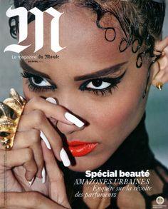 "Cora Emmanuel, french top model by vivianne sassen in ""M le magazine du Monde"""
