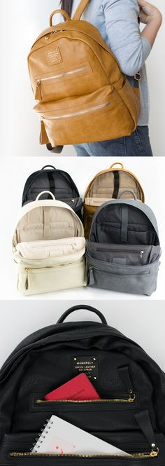 """Good news for anyone who is looking for a classy and functional backpack! This bag has an spacious size to hold your items including a 11"""" laptop and is made with a durable material, making it ideal to carry it with you anywhere for any purposes."""